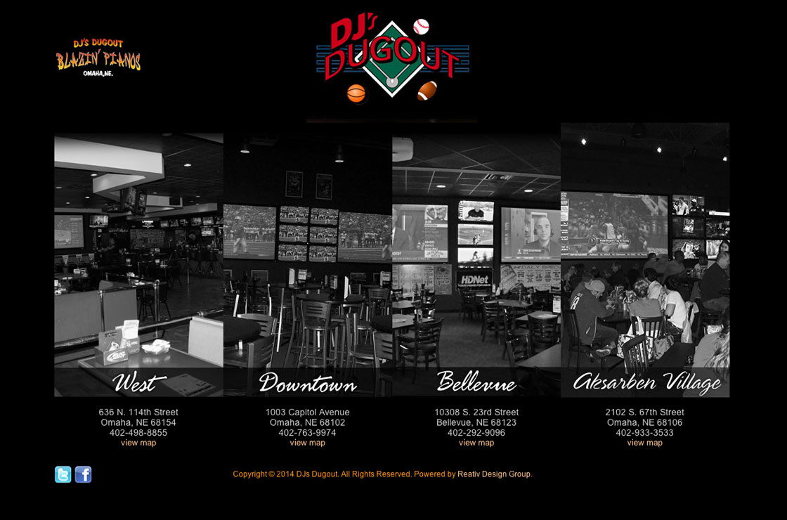 Dj's Dugout website screenshot