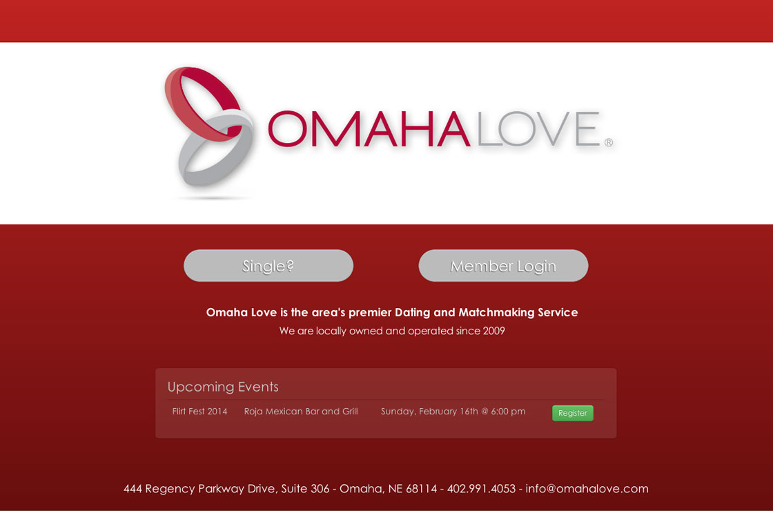 Omaha Love web design screenshot
