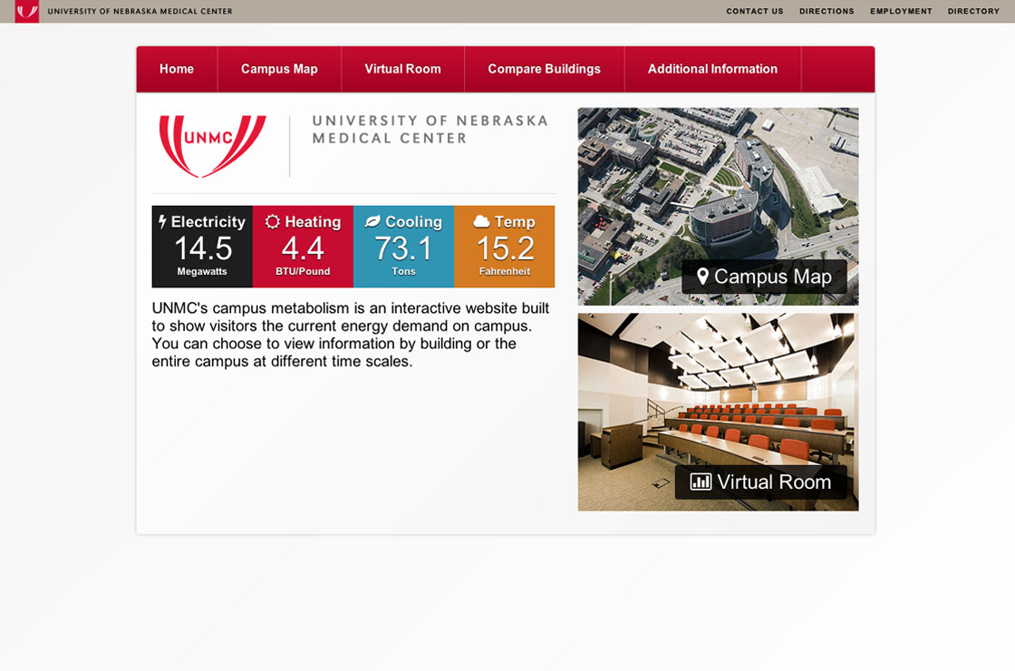 UNMC Energy website screenshot