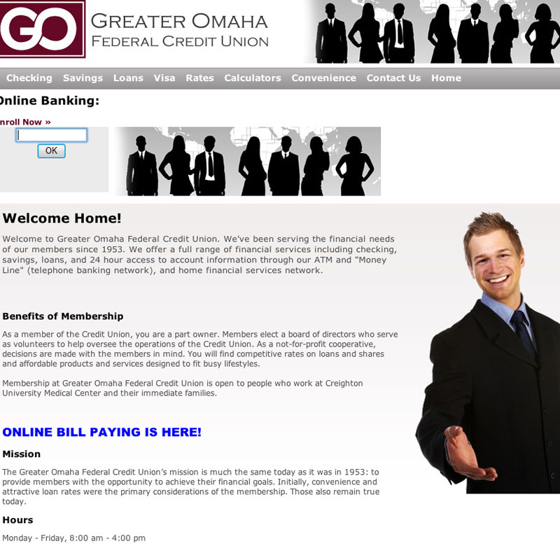 Greater Omaha Federal Credit Union screenshot
